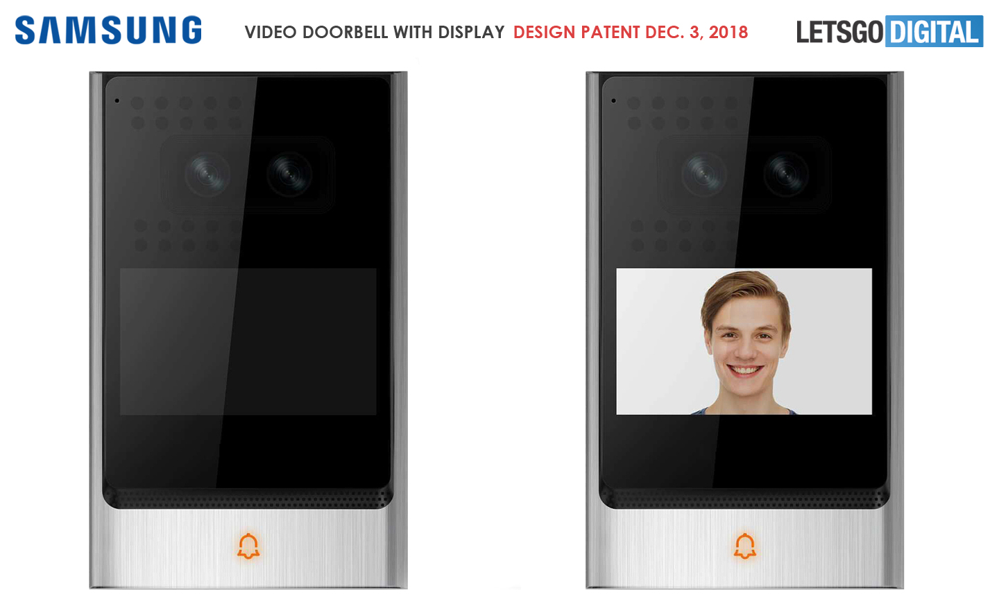 Samsung doorbell camera display