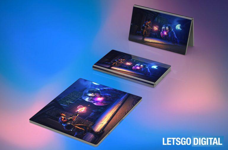 Huawei foldable smartphone 3D